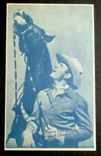 1940-50'S PROMOTIONAL EXHIBIT ARCADE CARD OF GENE AUTRY AND CHAMP