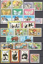 R9941 - MONGOLIA 1979 - LOTTO 25 TEMATICI DIFFERENTI DEL PERIODO - VEDI FOTO