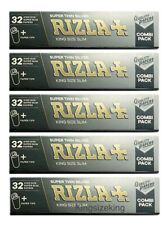 Rizla Silver Combi King Size Super Thin Rolling Papers With Tips (x5 Packs)