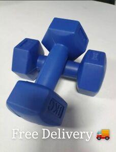 Everlast 1kg Dumbbells Set - 2kg Total - Home Gym Fitness - Free Delivery ✅