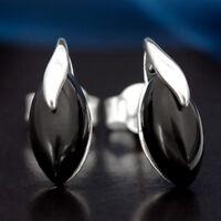 Onyx Silber 925 Ohrringe Damen Schmuck Sterlingsilber S0528