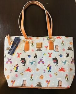 NWT Disney Dooney & Bourke Under The Sea Tote Bag Purse Ocean Friends Out To Sea