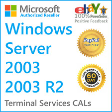 Windows Server 2003 / 2003 R2 Remote Desktop | Terminal Services CAL License Key