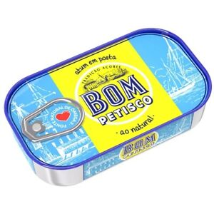 1 can of BOM PETISCO Portuguese Conserve Tuna in Brine 120g ~ 4.23Oz