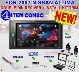 Pioneer 2018 USB Multimedia Stereo 2Din Dash Kit Harness for 13 Nissan Altima