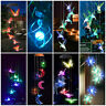 LED Lights Window Garden Decor Solar Power Color Changing Hummingbird Wind Chime