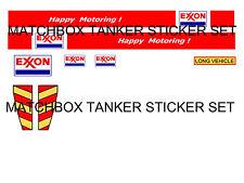 MATCHBOX SUPERKINGS  TANKER STICKER SET EXXON