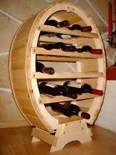 Botellero para Vino Madera Recipiente 18 Botellas Natural BAR Soporte Barril