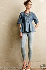 NEW Anthropologie Current/Elliott The High Waist Stiletto Gingham Jeans 25 $228
