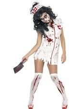 ADULT FEMALE ZOMBIE NURSE COSTUME HALLOWEEN SMIFFYS FANCY DRESS COSTUME - SMALL