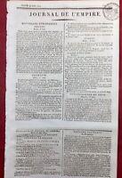Manifeste Cour de Vienne 1809 Campagne d'Autriche Tyrol Memmingen Berlin Italie