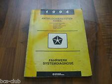 #J003 CHRYSLER JEEP DODGE EAGLE 1994 Bendix ABS-4 System Diag WERKSTATT HANDBUCH