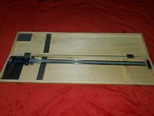 Fowler 54 100 024 1 Digital Calibrator 0 24 Range With Wood Case Machinist Tool