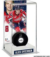 Alex Ovechkin Capitals Signed Puck with  Tall Hockey Puck Case - Fanatics