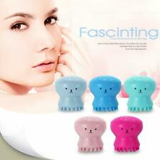 Face Cleansing Brush 2 Pcs Silicone Deep Clean Facial Massage Black Head Octopus