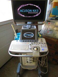 Siemens Acuson NX3 Farbdoppler Ultraschallgerät mit 3 Sonden und Printer