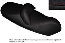 DEISGN 2 RED STITCH CUSTOM FITS PIAGGIO X9 125 250 500 DUAL LEATHER SEAT COVER