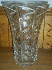 Quality Crystal Vase - Zig Zag Pattern - Waterford - 9 7/8""