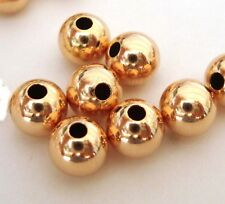 30pcs 5mm 14k ROSE gold filled round seamless bead spacer high polish shiny RB05