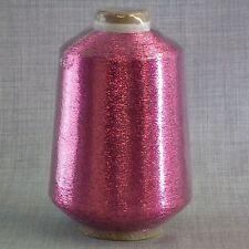 Cerise Lurex brillo metálico de hilados - 500 Gramos De Cono-Libre 1st Class Post * Nuevo *