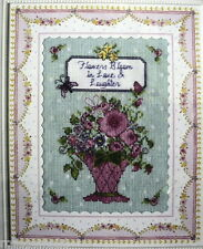 Flowers Bloom - Counted CROSS Stitch KIT (New) from Bucilla USA