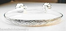 5MM 925 STERLING SILVER HAWAIIAN PRINCESS SCROLLS KEIKI CHILD BABY BRACELET ADJ