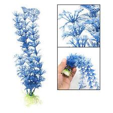 2 pcs nouveau bleu blanc en plastique herbe underwater ornement décoration pour aquarium