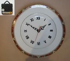 """Royal Crown Derby Cloisonne 10.5"""" Wall Hanging Plate CLOCK"""