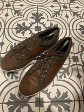 FootJoy FJ Contour Casual Mens 12 Wide Spikeless Pebble Leather Brown Golf Shoes