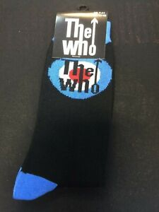 OFFICIAL LICENSED - THE WHO - TARGET LOGO ANKLE SOCKS SIZE 7/11 ROCK MOD