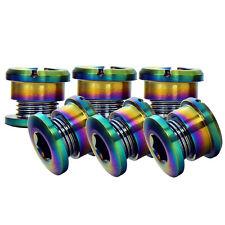 6 Pcs Bicycle Cycling Chain Ring Colorful Ti Bolts SRAM Shimano FSA Rotor 3.5mm