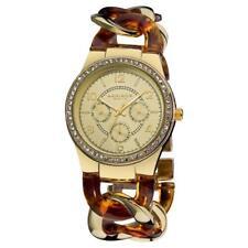 Akribos XXIV Women's AK562YG Quartz Multi-function Crystal Accented Resin Chain Watch