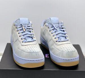 """Nike Air Force 1 Low Upstep LUX """" Aluminium Blue """" Size UK 6 Jordan / Dunk"""