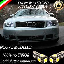 COPPIA LUCI DI POSIZIONE LED AUDI A4 B6 T10 W5W CANBUS 100% NO ERROR