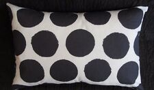 NATURAL WHITE & CHARCOAL GREY SPOT GEOMETRIC RECTANGULAR CUSHION COVER