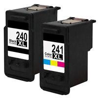 2x Ink Cartridge for Canon PG-240XL CL-241XL PIXMA MX452 MX472 MX512 MX522 MX532