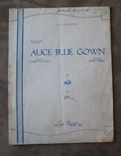 Alice Blue Gown Sheet Music  from the musical play IRENE