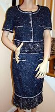 New with Tags CHANEL 12P Iconic Fantasy Confettie Tweed Dress 38