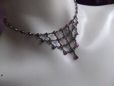 Gorgeous Twinkly Red Diamante Bib Necklace by Next