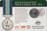 2017 Australian Active Service Medal 1945-1975 20 cent carded coin UNC