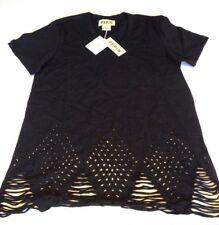 New NWT Pepin BLACK ECHO CLASSIC TEE L Large tshirt t-short destroyed cut