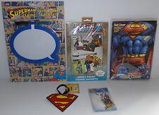 DC COMICS : SUPERMAN SUIT COVER, KEY RING, ADDRESS TAG, MAGNETS, MEMO BOARD SET