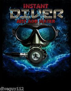 Amphibious Outfitters T-shirt - Scuba Diving - Instant Diver - Black - D0205B