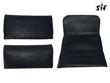 Blague à tabac - carnet simple + poche zip carnet double 15,7 x 8 cm - noir