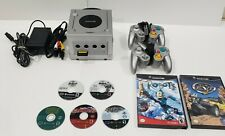 Nintendo GameCube Silver Console, 2 Silver Controllers with 7 Games. Read!!