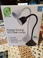 New Greenlite EnergySaving Led Flexible Desk Lamp Black- direct light where need