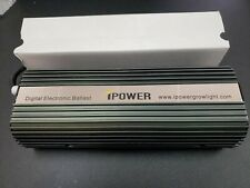 iPower 600 Watt Digital Dimmable Elec. Ballast for HPS MH Grow Light w/ bulbs