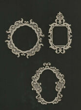 Set of 3 Vintage Style Small 2 layer frames