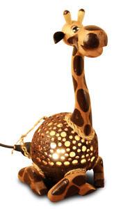 Wood Lamp Coconut Lamps Coconut Light Animal Motif Kid's Room Children Light