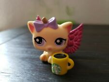 Littlest Pet Shop 1337 Petriplet KITTEN Cat Yellow Purple Eyes Petriplets